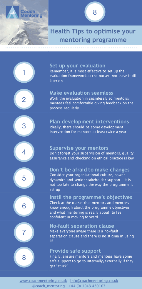 Infographic — Eight Spring HEALTH TIPS to optimise your mentoring programme