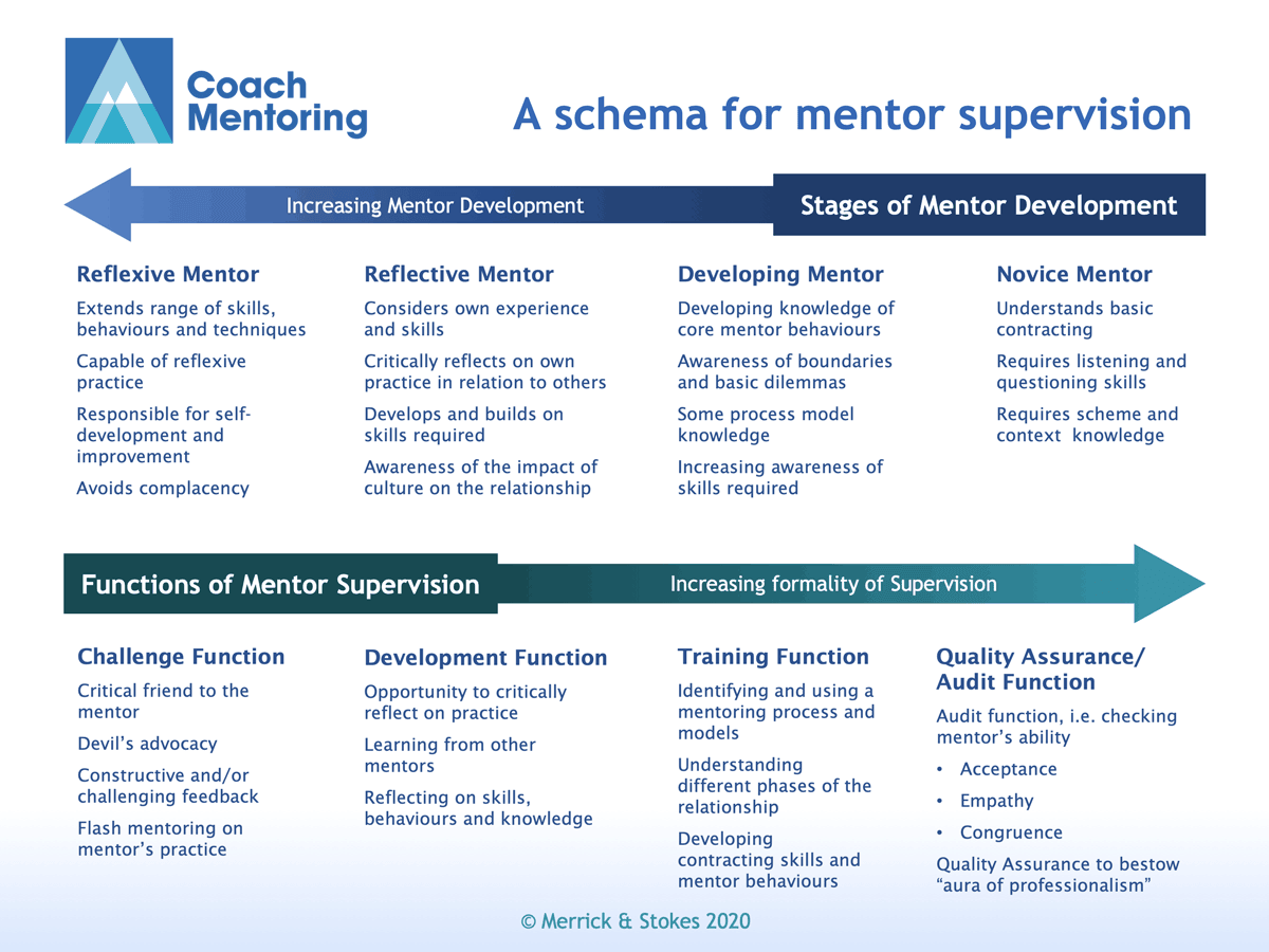 A schema for mentor supervision