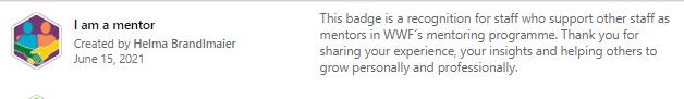 Mentoring Ambassador Badge